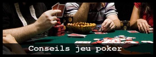 Conseils jeu poker